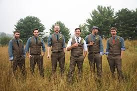 Image result for brown groomsmen suits