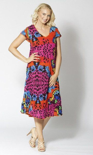 Colorful crinkle dress by Cordelia St is this summer must have!