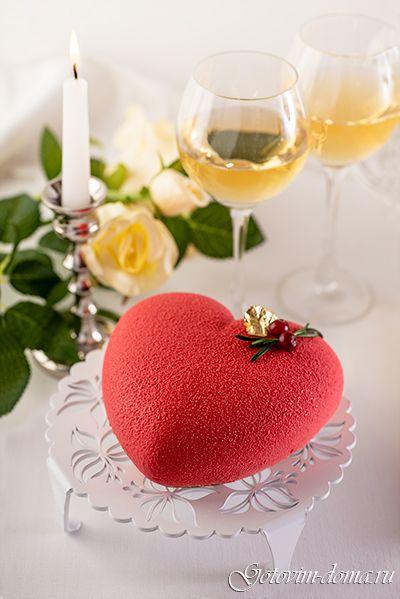 """Муссовый торт """"Сердце"""" (Вишня-лимон-ваниль)"""