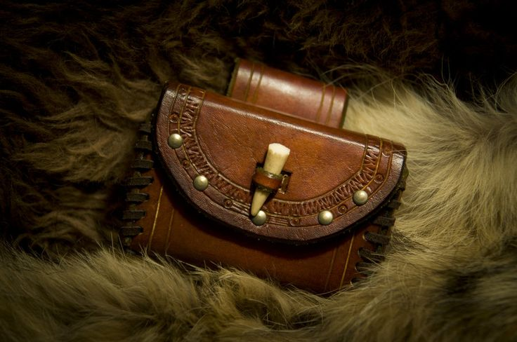 Leather belt pouch by Primitve.deviantart.com on @deviantART