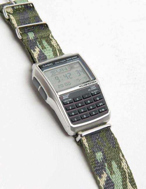 CASIO databank camouflage cordura strap.  WOW!