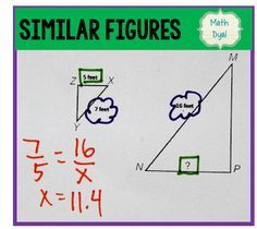 Math Dyal: Similar Triangles. Ideas for teaching similar figures, solving proportions, similar triangles.