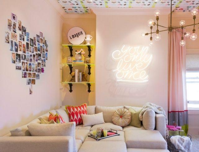 Jugendzimmer sitzecke gestalten wand leuchte modern em for Jugendzimmer modern design