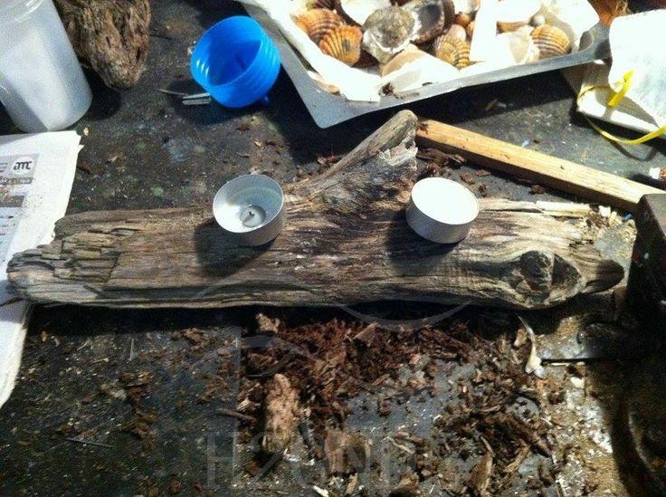 Tea light holder, made of driftwood.  Follow us on Etsy https://www.etsy.com/it/shop/H2ONDE, Pinterest https://it.pinterest.com/h2onde/ and Facebook  https://www.facebook.com/H2Onde/!!