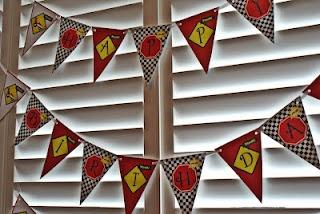Racing Cars Birthday Banner