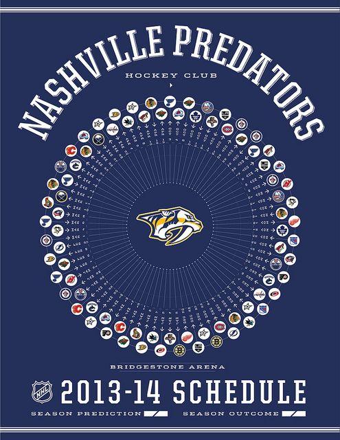 Nashville Predators 2013-14 Schedule by kishcollageit, via Flickr