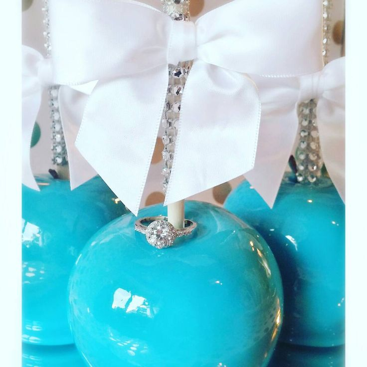 Tiffany Blue Candy Apples Cinderella Princess Gorgeous!!! She'll say I do!!! by JohnnyRaes on Etsy