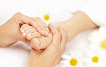 reflexology treatment - 'milking' the lymphatic system