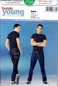 spodnie męskie - wykrój BURDA