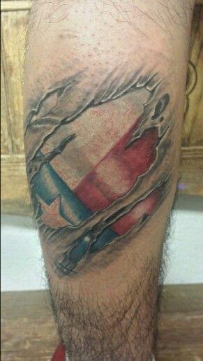 Texas flag tearing thru skin tattoo #texasflag #texas #texasflagtattoos #skinteartattoos #texasflagrippingthruskin #flagtattoos #texaspride #madeintexas #3dtattoos