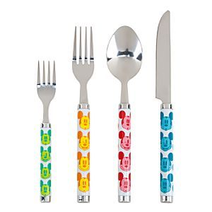 Disney Mickey Mouse Flatware Set - Summer Fun   Disney StoreMickey Mouse Flatware Set - Summer Fun - Bring summer time to your table with this Mickey Mouse Flatware Set. The 16-piece set's colorful design features Mickey with different expressions that will add a wink and smile to meal times.