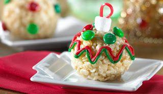 ornament rice krispie treats