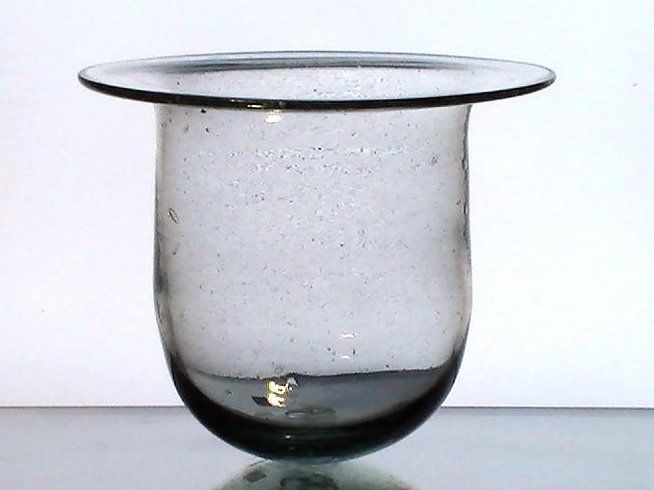 Hanging candle holder flat wide rim 8 x 7 xl heavy bubble for Flat candle holders