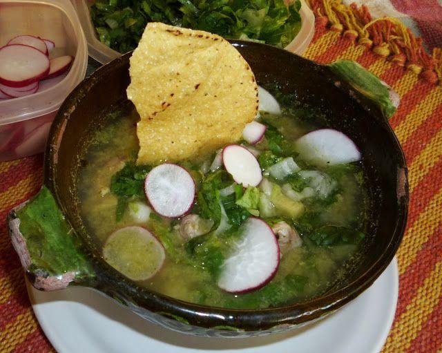 ¿Gusta Usted? Auténtica comida casera mexicana:   RICO POZOLE VERDE. RECETA. Ven por ella!