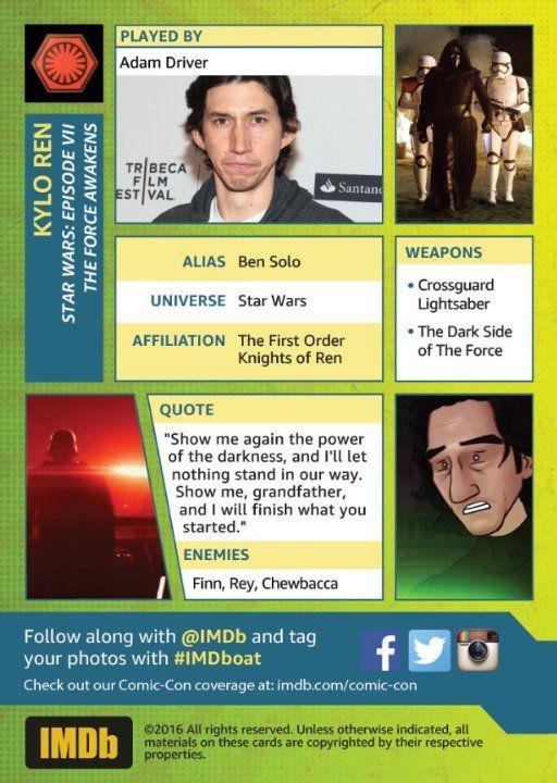 Adam Driver at Star Wars: El despertar de la fuerza (2015)