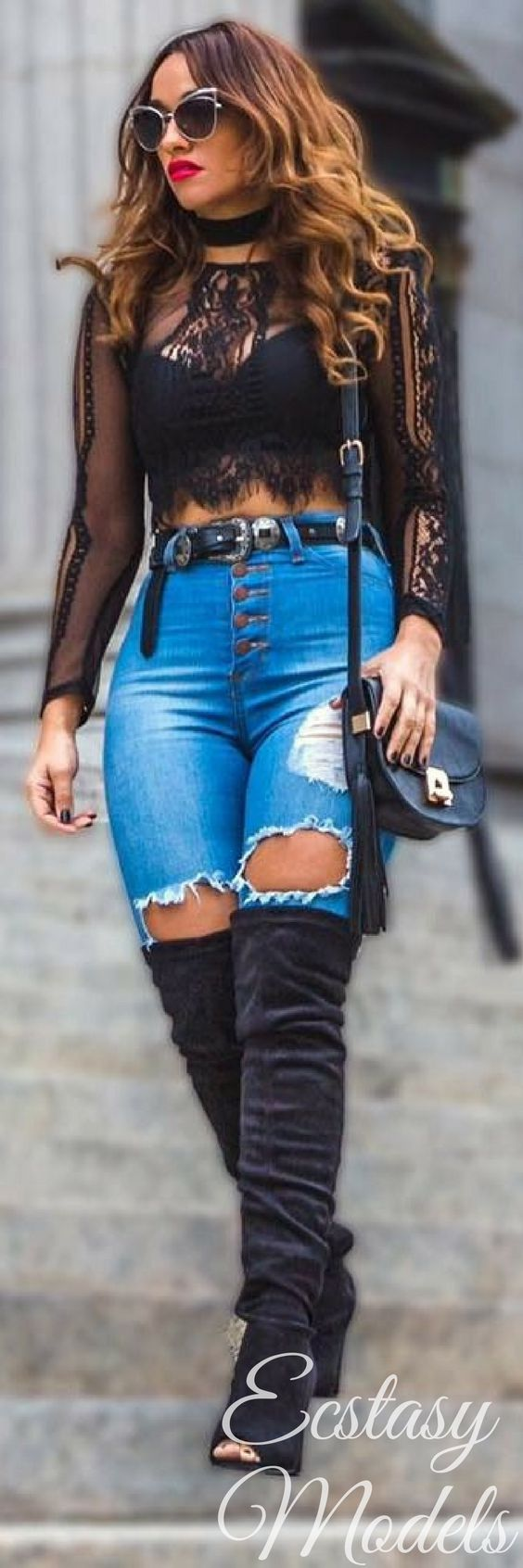 Lace Top // Fashion Look by Jadore Mi Amor