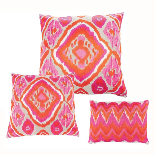 Now if that isn't a dose of colour I am not sure what is! Cushions by Kim Seybert