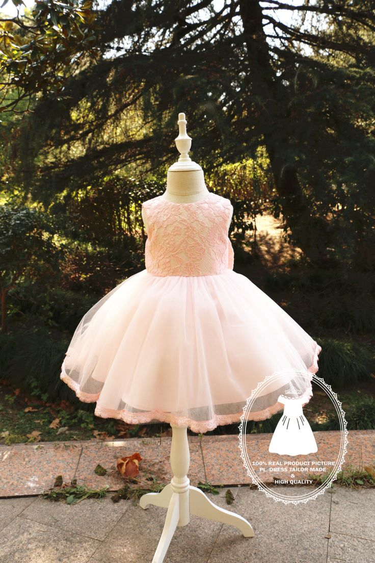 Flower Girl Dress with Beautiful Lace Top,Newborn Tutu,Baby Pageant Dress,Toddler glitz pageant dress, PD018-1 by PLdress on Etsy https://www.etsy.com/listing/215162906/flower-girl-dress-with-beautiful-lace