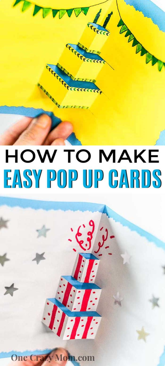 How To Make A Pop Up Card Easy Pop Up Cards Tutorial Pop Up Cards Mom Diy Crafts Birthday Card Craft