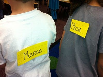 When learning Homophones, try this fun, interactive sound matching game. Students must work together to find out what they are, and then find their match!