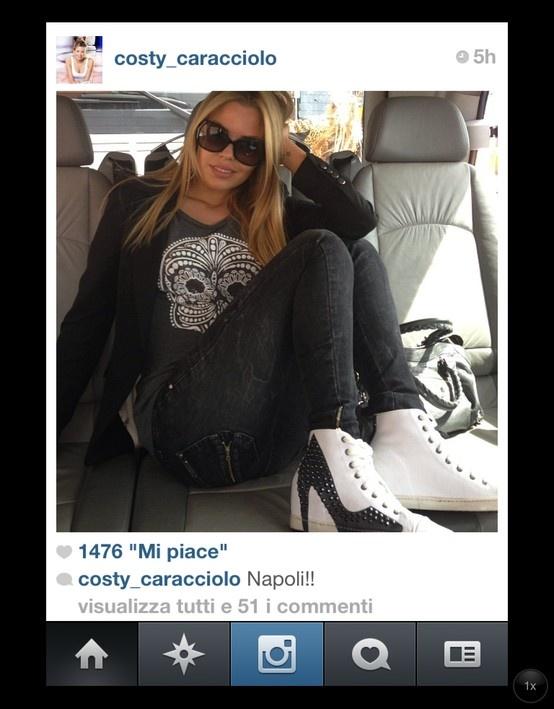 Costanza Caracciolo with Colors of California sneakers