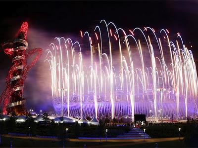 Juegos Olímpicos de Londres 2012, Inauguración, luces espectaculares