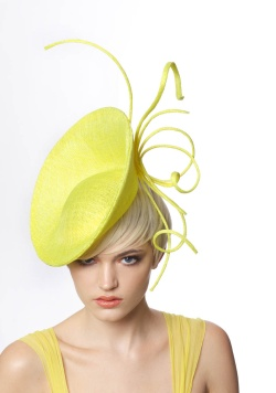 Love this lemon colored design by James Lock, who has made hats for the Duchess of Cambridge.