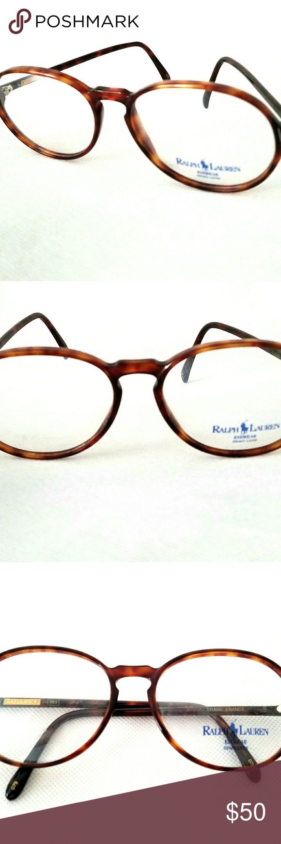 "Ralph Lauren ""523"" Eyeglasses Frame - Oval Vintage  Ralph Lauren 523 Tortoise 079 Eyeglasses.  Size: Eye 56 mm, Bridge 17 mm, Temple 140 mm.  Shape - Oval  100% New Old Stocks.  Made in France.  These frames demo lenses that can changed into prescription glasses or sunglasses by opticians  See the photos for clarification. Ralph Lauren Accessories Glasses"