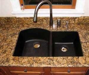 Custom Marble U0026 Granite: Giallo Fiorito Granite With Swanstone QUDB 3322  Sink