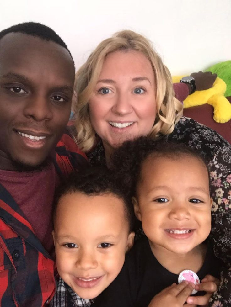 Interracial family picture — 9