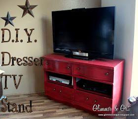 glimmer u0026 grit diy dresser tv stand