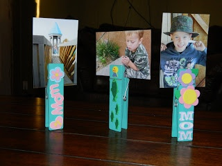 Something Like Life: Making Memories-Giant Clothespin Picture Holders