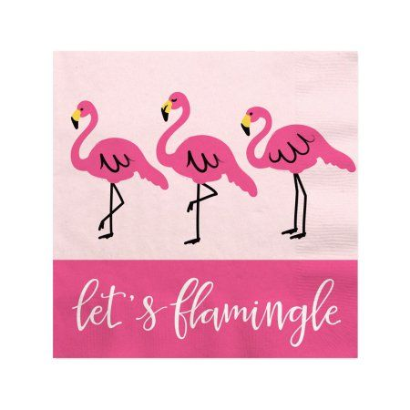 Flamingo - Party Like a Pineapple - Baby Shower or Birthday Party Beverage Napkins (16 count)