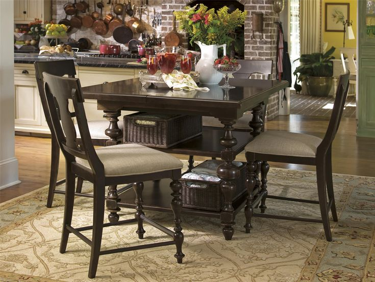 universal furniture paula deen home kitchen gathering table