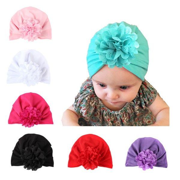Baby Twist Knot Flower Bonnet Infant Indian Style Caps Hats Head Scarf Wrap