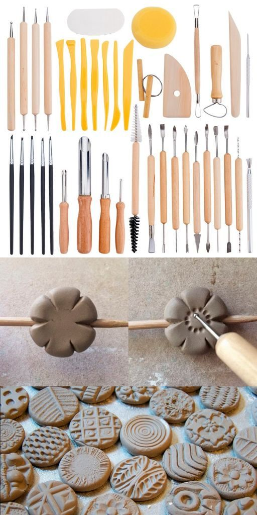 BENECREAT 40PCS Clay Sculpting Tools Pottery Carving Tool Set – Includes Clay Color Shapers, Modeling Tools & Wooden Sculpture Knife for Professional