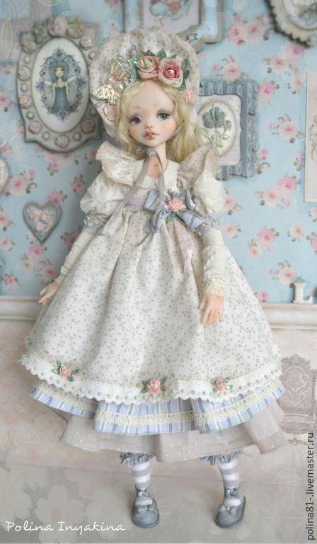 Купить Иветта-Элли - бежевый, светло-серый, кукла ручной работы, кукла, кукла в подарок