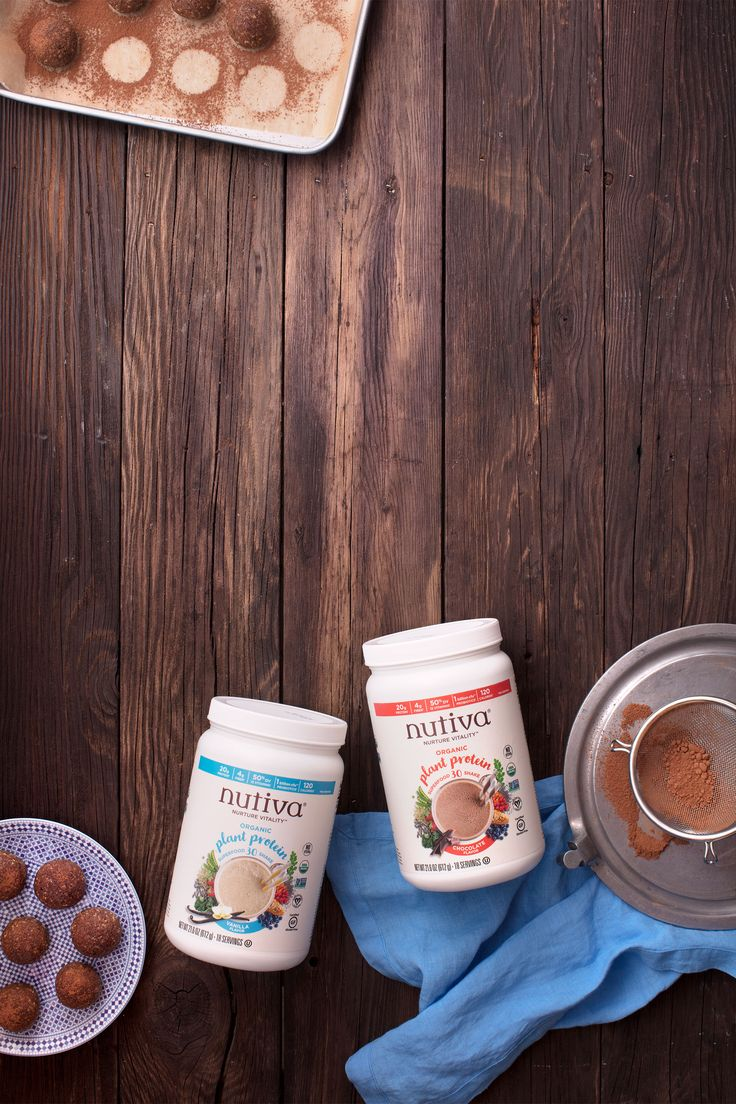 Energize yourself with these bite-sized goodies. You'll love @nutiva Raw Nutty Chocolate Protein Balls!