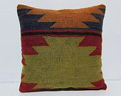 """Turkish cushion 18"""" sofa throw pillow kilim pillow cover decorative pillow case couch outdoor floor bohemian boho ethnic rustic accent 29996"""