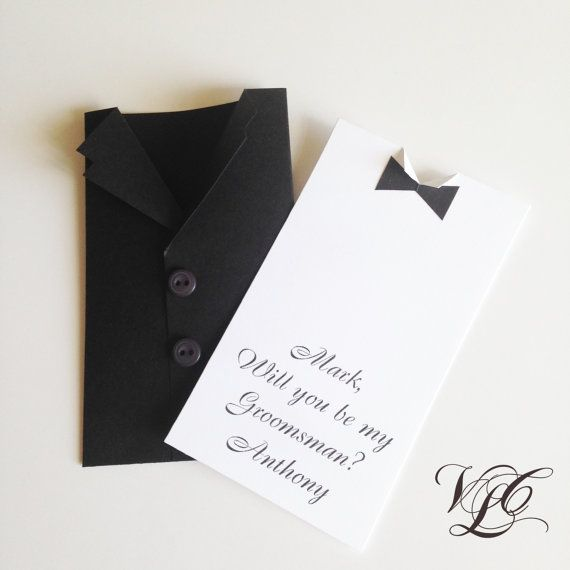 Be my Groomsman card Personalized Groomsman by VintageChicLace
