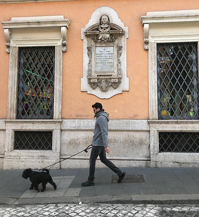 In this house Gianlorenzo Bernini lived and died #romaamoremio #bernini #dogsofrome #italogram