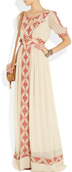 Cut of the dress. #Summer #vintage #simple  Alice by Temperley, Beatrice maxi dress~