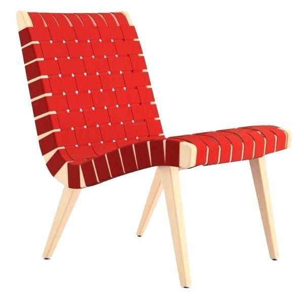 Red #Knoll Risom Lounge Chair. $700 on #Chairish. Retail price= $938. http://shop.chairish.com/products/red-knoll-risom-lounge-chair