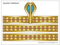 Descargue la plantilla diadema egipcia 4