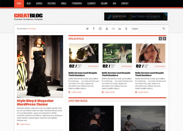 Great Blog – Free Website Template