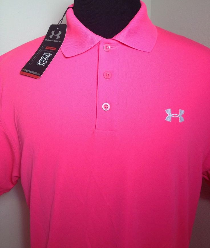 under armour golf polo performance shirt breat cancer mens
