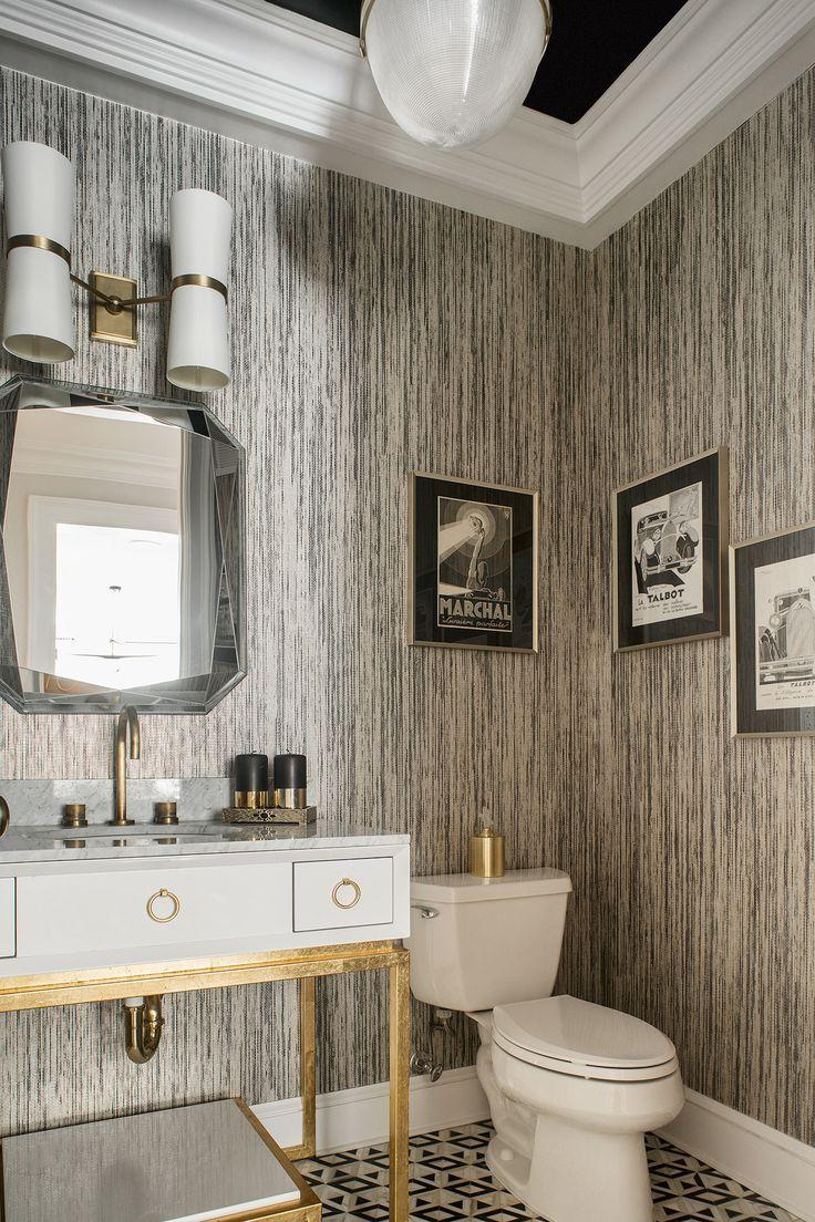 Wallpaper bathroom design  Bathroom wallpaper trends, Bathroom