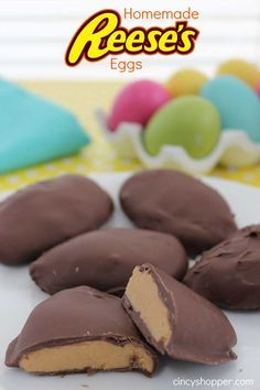 Homemade Reeses Eggs. Great for wrapping in cellophane and placing in Easter Baskets. So Yummy!