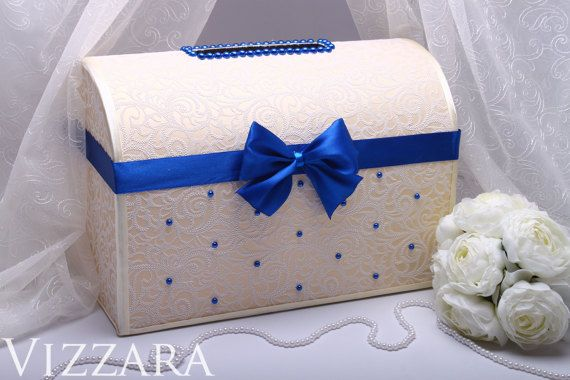 Wedding Gift Envelope Suggestions : ... wedding ideas Decor wedding Box For Envelopes Cream wedding Blue IVORY