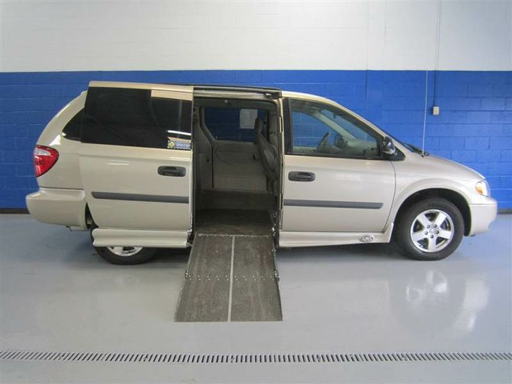 Pre Owned 2006 Dodge Grand Caravan SE Wheelchair Van For Sale With The Popular AMS Powered Side Entry Ramp And A Removable Front Passenger Seat